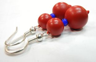 Cinnabar earrings