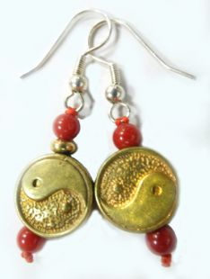 Copper made Tai-Chi earings
