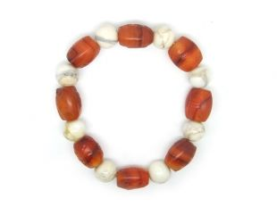 Carnelian Bracelet 8AS Carved
