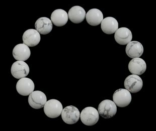 White Howlite Bracelet 10mm